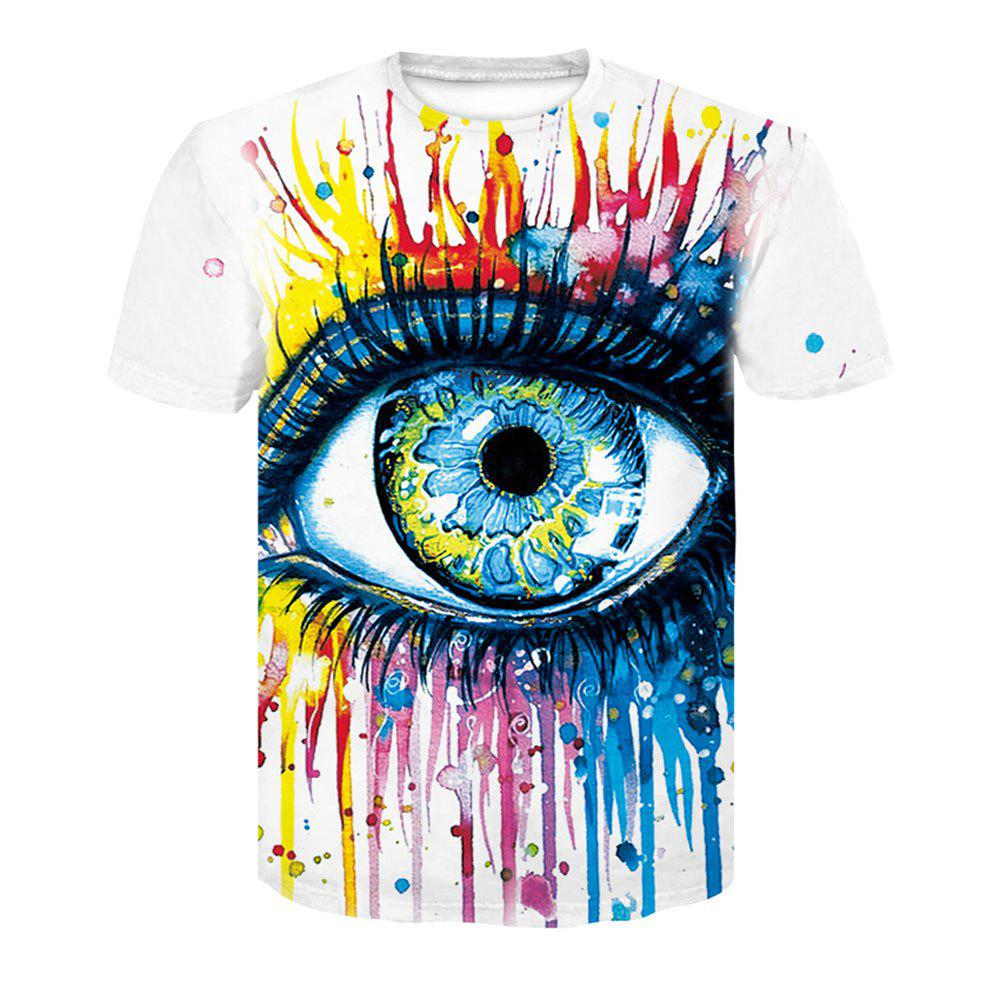 Summer Men's Short Sleeved 3D Big Eyes Digital Printed T-Shirts big eyes