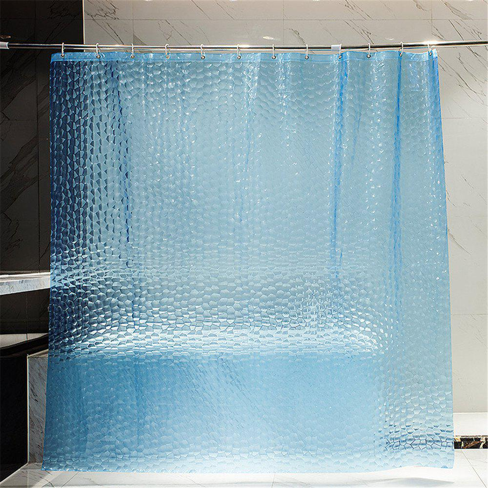 2018 Transparent 3D Water Cube Design Shower Curtain DAY SKY BLUE In ...