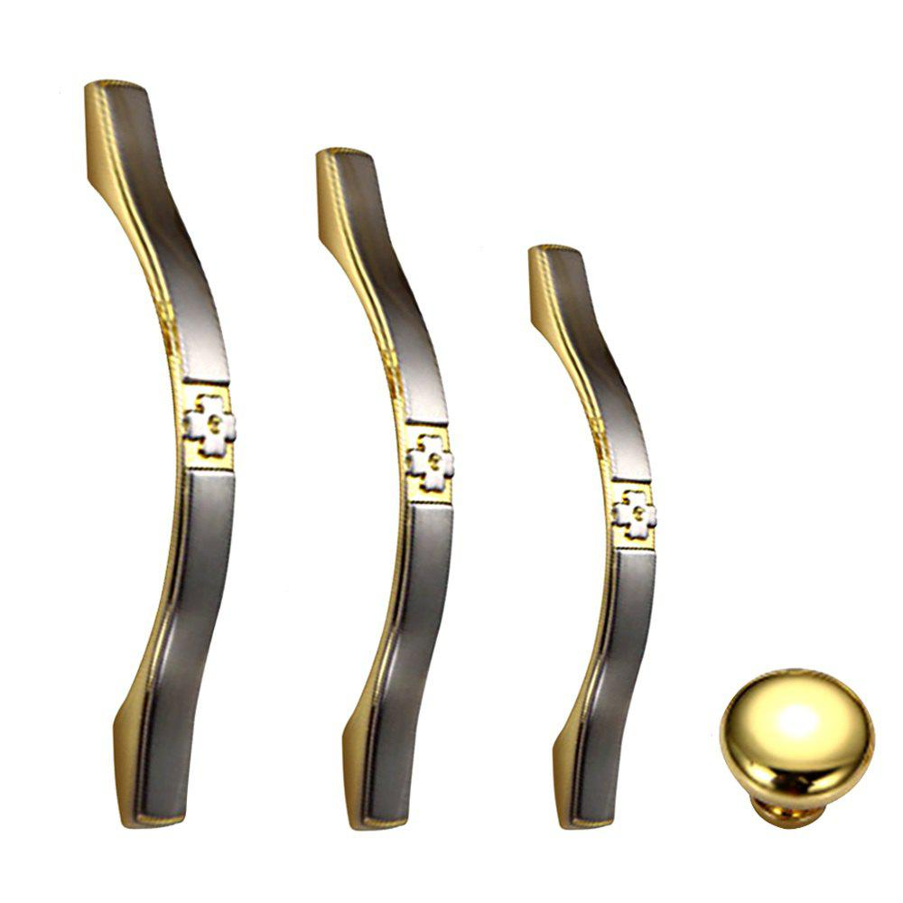 Simple European Wardrobe Drawer Golden Cupboard Door Handle antique furniture handles wardrobe door pull dresser drawer handle kitchen cupboard handle cabinet knobs and handles 128mm 160mm