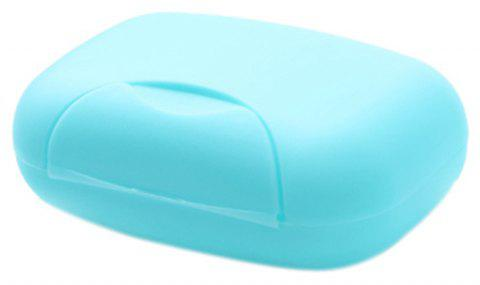 Houseware Plastic Mini Soap Dish Box Holder - TRON BLUE
