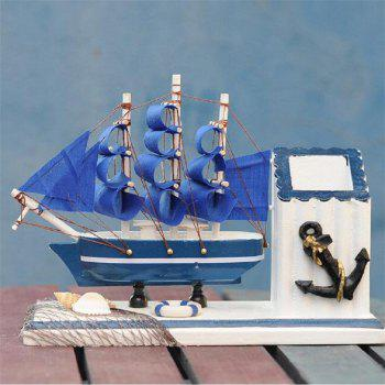 Mediterranean Style Creative Home Furnishings with A Penholder - BLUE
