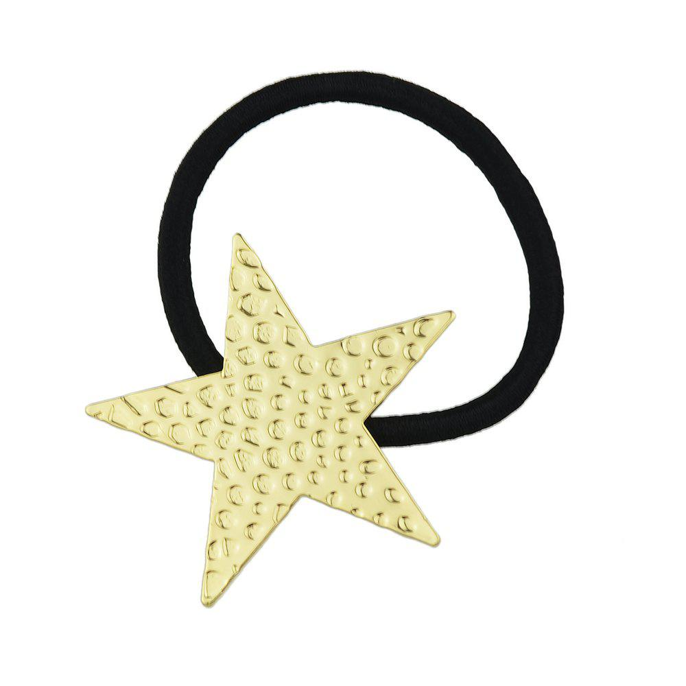 Elastic Rope With Gold-Color Star Shape Hairbands - GOLD