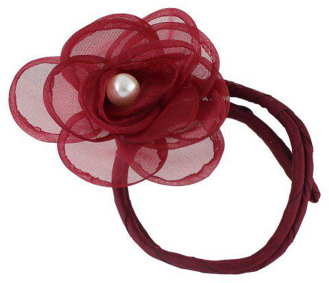 Lovely Colorful Lace Flower Hairbands Hairwear - RED