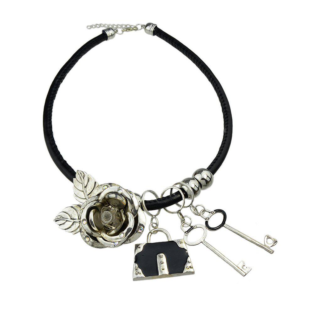 Lock Key Charms Statement Necklaces