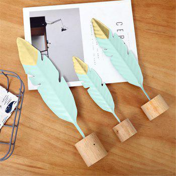 Creative Iron Feather Bedroom Metal Home Living Room Decoration Gift - multicolor A S