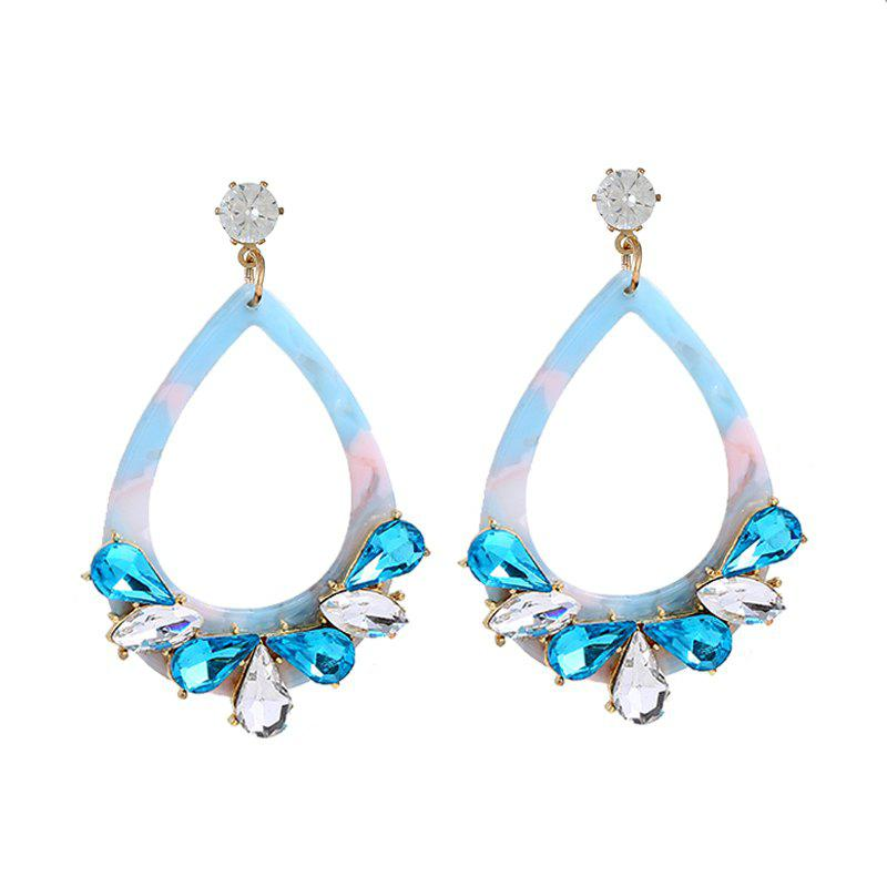 Europe and The United States New Diamond Geometric Acrylic Long Earrings new europe paper only
