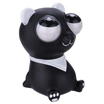 Squeeze Little Bear Novelty Out Eyes Stress Vent Toys - BLACK