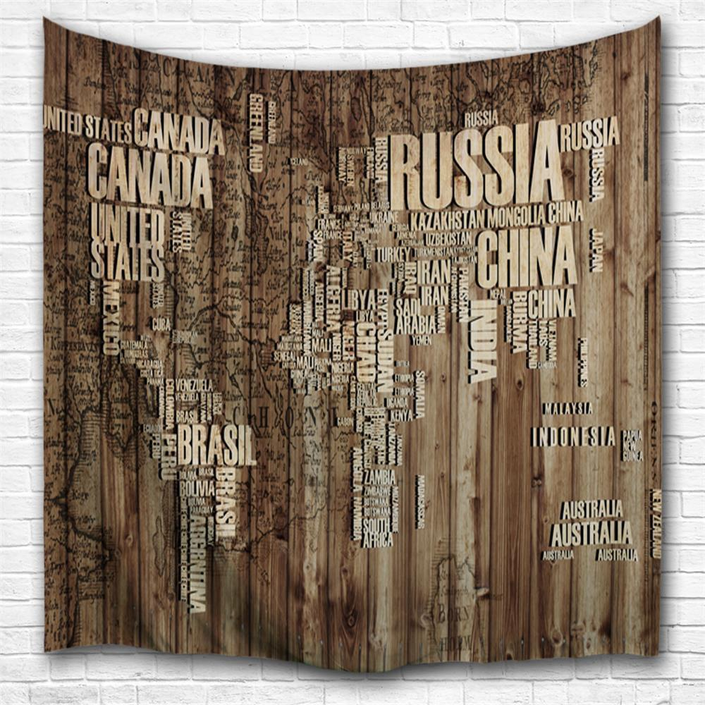 Wooden Board Alphabet 3D Printing Home Wall Hanging Tapestry for Decoration