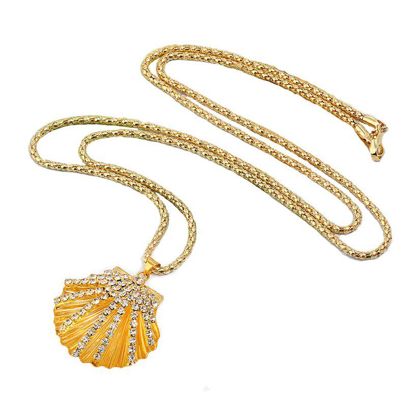 Фото Fashion Gold Silver Jewelry Crystal Metal Shell Necklace For Women Girl