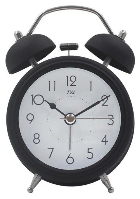 High-grade Exquisite Fashion Metal Bell Alarm Clock - BLACK