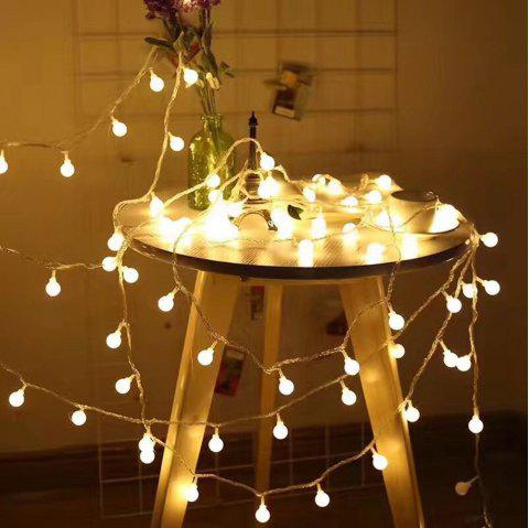 led round ball string light for indoor and outdoor christmas decoration warm white