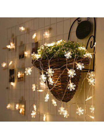 led snowflake string light for indoor and outdoor christmas