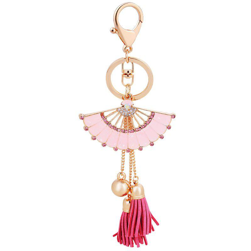 Fashion Girl Bag Pendant Fan Shape Tassels Key Chain Car Ornaments fashion girl bag pendant fan shape tassels key chain car ornaments