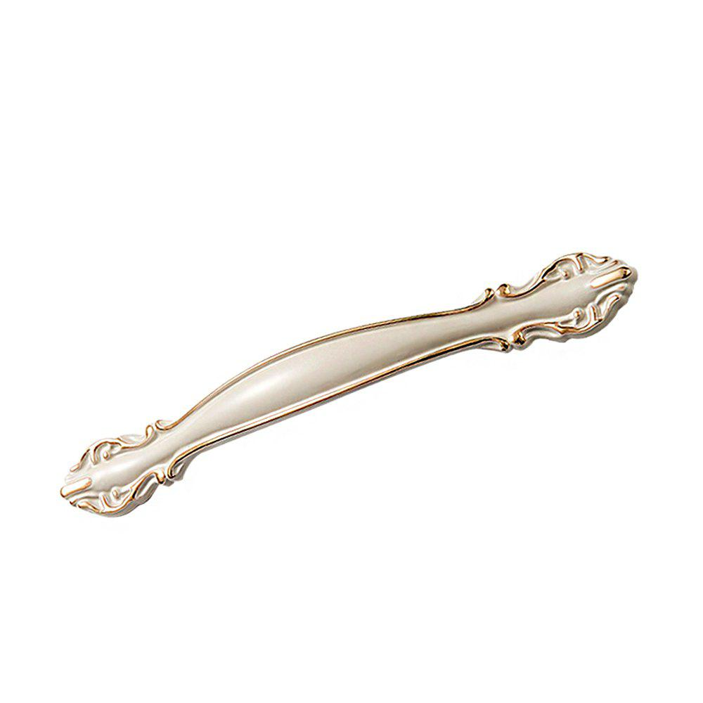 Aluminum Alloy Cabinet Door Hardware Handle length 146mm hole pitch 128mm zinc alloy handle drawer handle antique furniture handle cabinet handle ivory white color