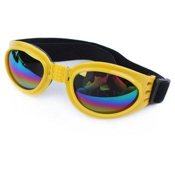 Lovoyager VB042701 Pet Cute Sunglasses - YELLOW ONE SIZE