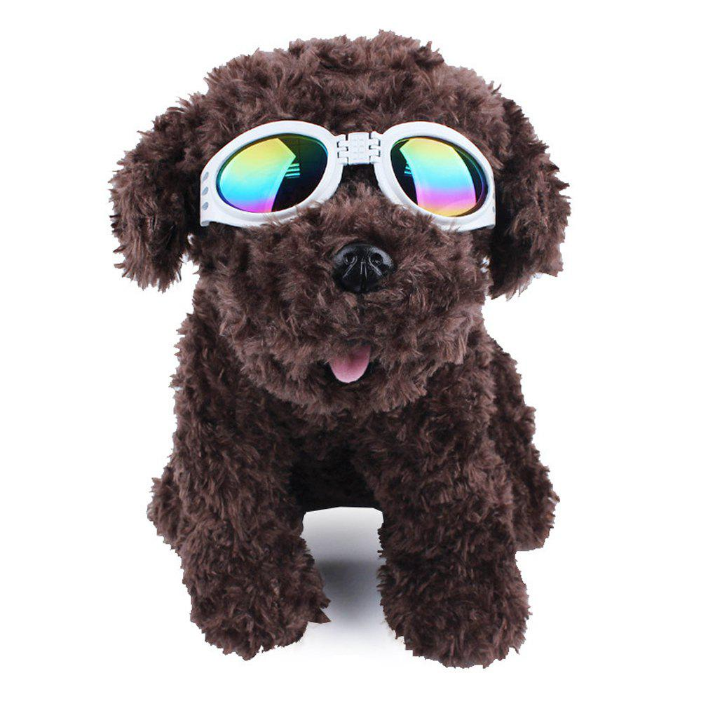 Lovoyager VB042701 Pet Cute Sunglasses - WHITE ONE SIZE