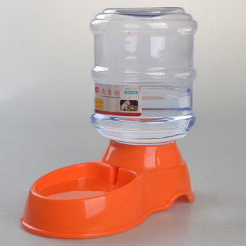 Automatic Pet Feeder Safety Plastic Dog Water Drink Bowl - ORANGE ONE SIZE