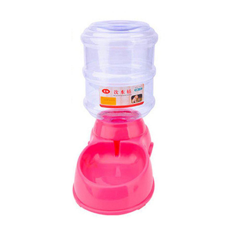 Automatic Pet Feeder Safety Plastic Dog Water Drink Bowl - PINK ONE SIZE