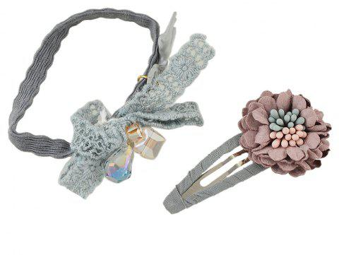 Elastic Rope With Flower Shape Hairwear - GRAY