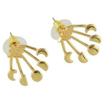 Silver Color Gold-color Star Stud Earrings - GOLD