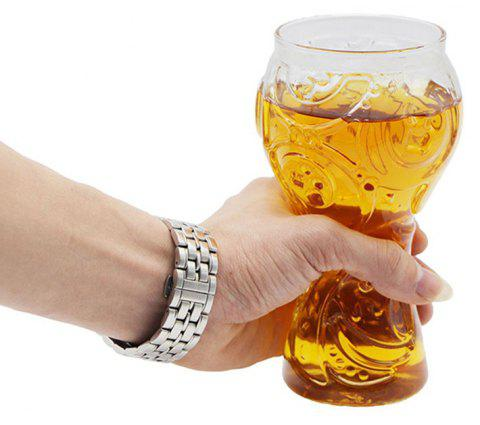 2018 Football Creative Champions Glass Mug 400ml Cheers - TRANSPARENT