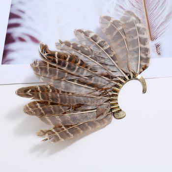 New Creative Feather Ear Hook Exaggerated Big Wholesale Earrings - GOLD