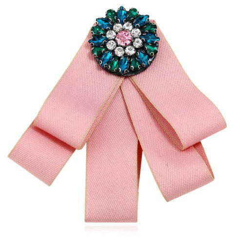 Fashion Brooches Pins Collar Flower And Bow Tie College Women - PIG PINK