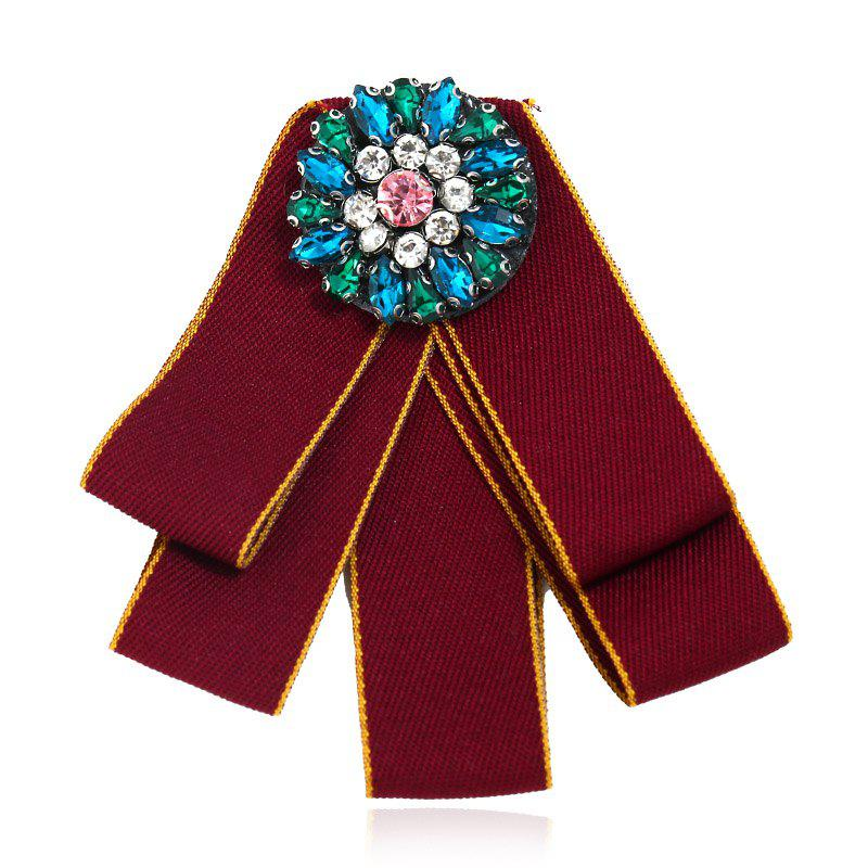 Fashion Brooches Pins Collar Flower And Bow Tie College Women - LOVE RED