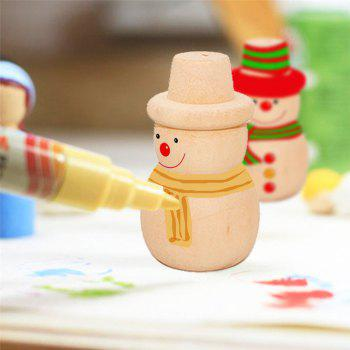 10PCS Toy Puppets Handmade DIY Coloured Wood Home Ornaments - BURLYWOOD