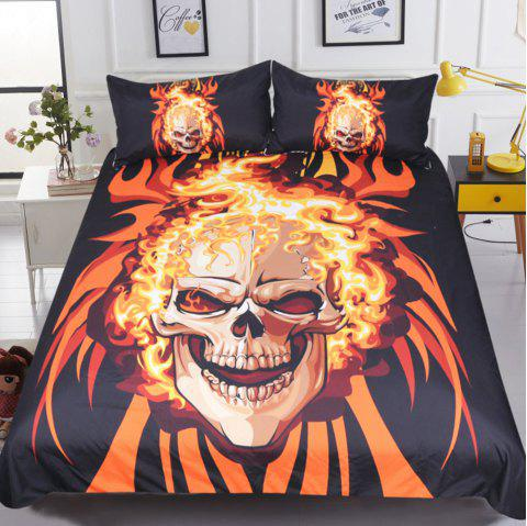 Angry Style  Bedding Duvet Cover Set Digital Print 3pcs - multicolor KING