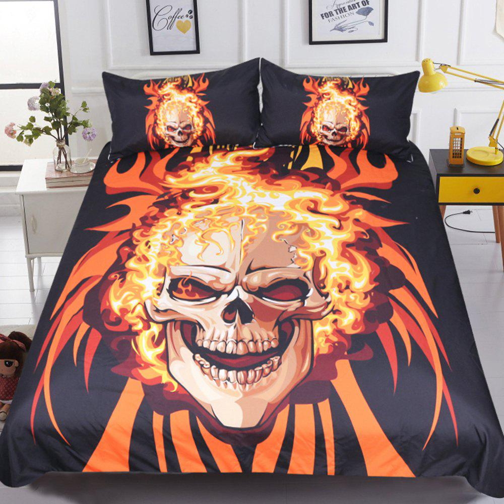 Angry Style  Bedding Duvet Cover Set Digital Print 3pcs - multicolor QUEEN