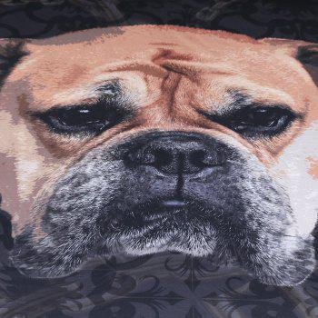 Bulldog Bedding Duvet Cover Set Digital Print 3pcs - multicolor KING