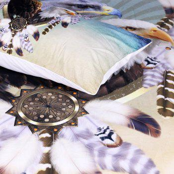 Three Eagles Bedding Duvet Cover Set Digital Print 3pcs - multicolor KING