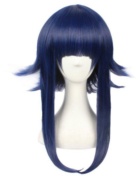 Blue Color Party Costume Long Natural Straight Best Synthetic Hair Anime Wig - EARTH BLUE 16INCH
