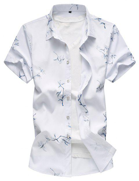 Men s Summer Short Sleeved Large Size Fat Flock Leisure Shirts - WHITE 2XL 26355c6db142