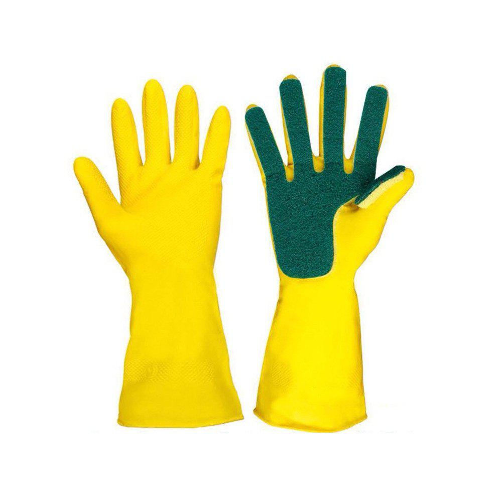 Фото Latex Five Fingers Cleaning Cloth Compound Sponge Wash Bowl Gloves 2pc ultra thin household cleaning nitrile gloves medical disposable tatoo mechanic laboratory repair powder free latex rubber