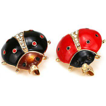 PULATU Cute Scarab Brooches Women Badges for Clothing Party Supplies - RED