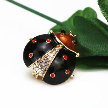 PULATU Cute Scarab Brooches Women Badges for Clothing Party Supplies - BLACK