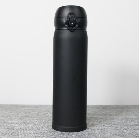 Insulation Cup ThermBottle for Tea 500ML Women Portable Vacuum Flasks - NATURAL BLACK