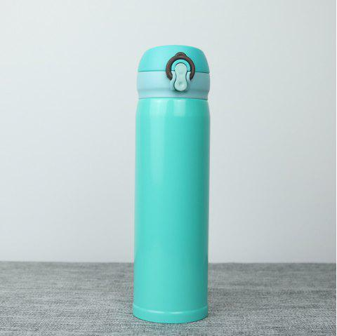 Insulation Cup ThermBottle for Tea 500ML Women Portable Vacuum Flasks - CRYSTAL BLUE