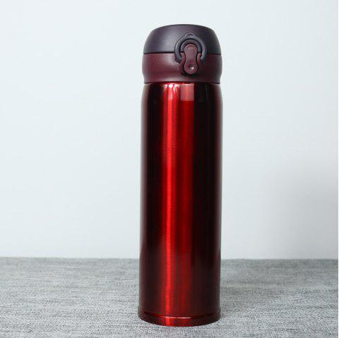 Insulation Cup ThermBottle for Tea 500ML Women Portable Vacuum Flasks - RED WINE