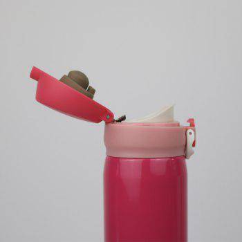 Insulation Cup ThermBottle for Tea 500ML Women Portable Vacuum Flasks - PINK