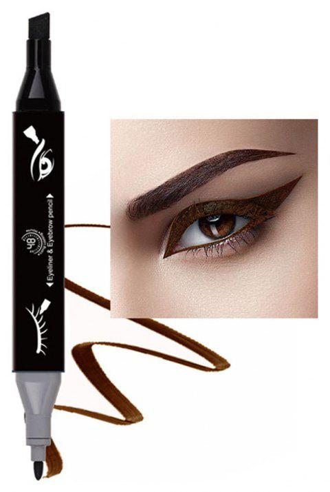 Original Single 2 in 1 Marker Pen Eyeliner and Eyebrow Pencil 1PC - 002