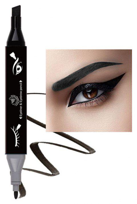 Original Single 2 in 1 Marker Pen Eyeliner and Eyebrow Pencil 1PC - 003