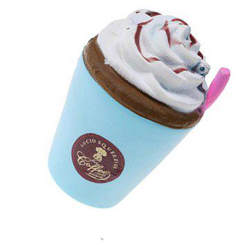 Jumbo Squishy Cute Coffee Cup Soft Slow Rising Cream Scented - JEANS BLUE