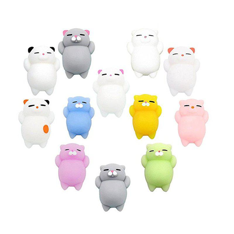 Mini Cartoon Cat Fidget Toy Stress Reliever Soft Jumbo Squishy Slow Risin 12PCS игрушка сима ленд раздели на части 7 105403