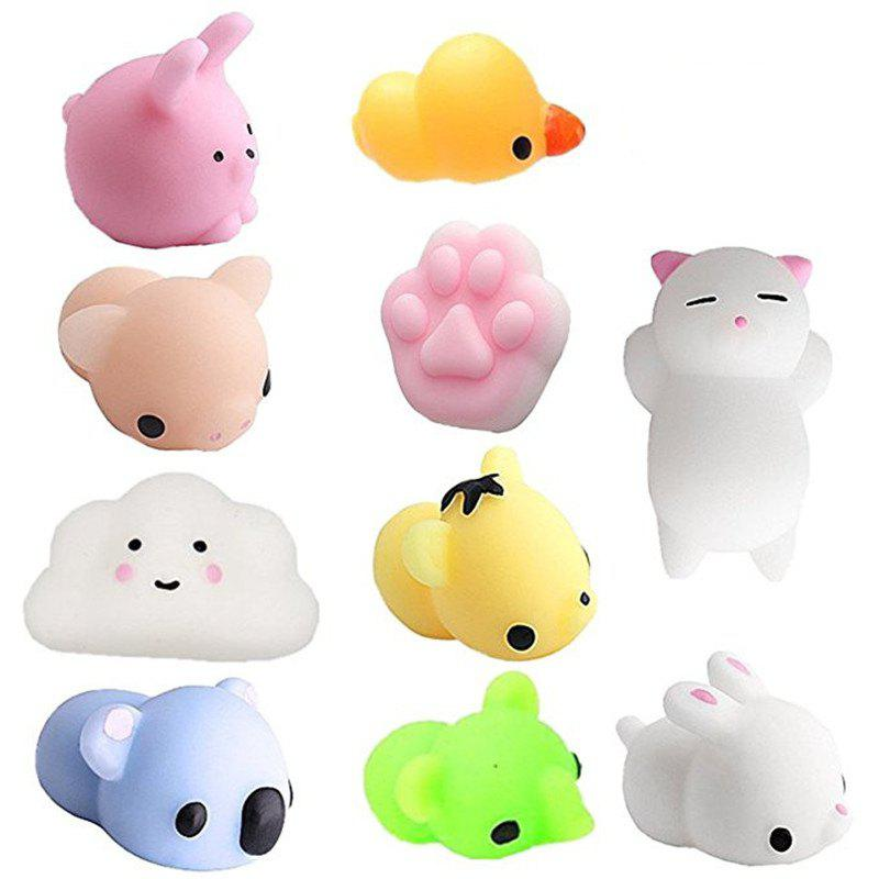 Animal Jumbo Squishy Mini Kawaii Stress Relief Fidget Toys for Children and 10PCS 38cm plush whales toys with soft pp cotton creative stuffed animal dolls cute whales toys fish birthday gift for children