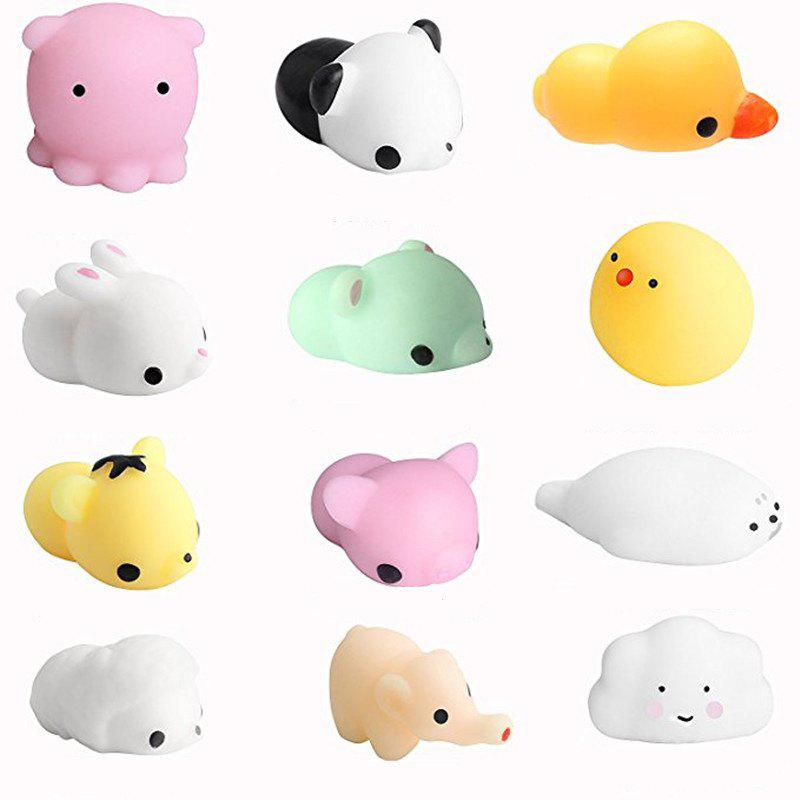 Soft Silicone Jumbo Squishy Animals Hand Squeeze Toy 12PCS - multicolor