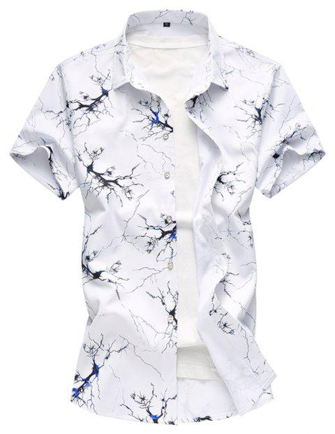 Men s Summer Short Sleeved Large Size Plus Fat Printed Casual Shirts -  multicolor B 6XL 75122a1ec1b1