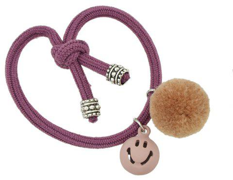 Candy Color Rope Smile Face Headbands - VIOLET